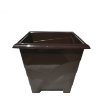 CALLA szögletes műanyag virágtartó - BARNA