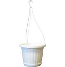 Akasztós virágcserép 26 cm - fehér