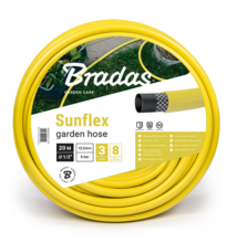 Locsolótömlő 3 rétegű, sárga SUNFLEX 1/2 colos - 50 m