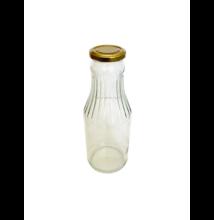 Ivóleves üveg tetővel 1 L