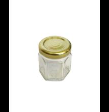 Hatszögletű üveg tetővel 47 ml