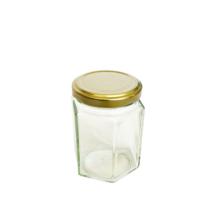 Hatszögletű üveg tetővel 196 ml