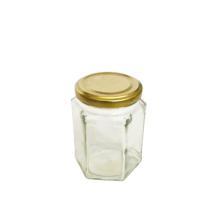 Hatszögletű üveg tetővel 275 ml