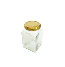 Négyszögletes üveg tetővel 260 ml