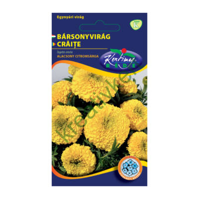 Bársonyvirág (Büdöske) - Nagyvirágú alacsony citromsárga 1 g