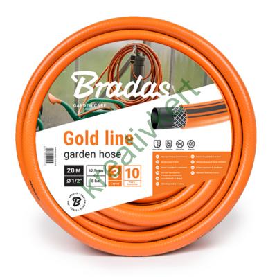 GOLD LINE locsolótömlő 1/2 colos - 20 m (csavarodásmentes)