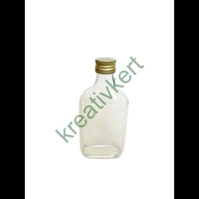 Csavarzáras lapos üveg 0,2 l