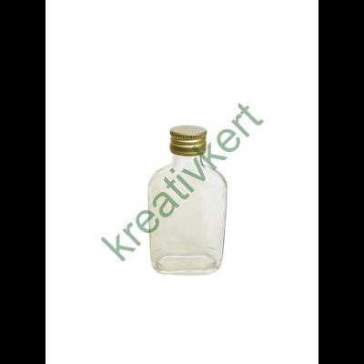 Csavarzáras lapos üveg 0,1 l