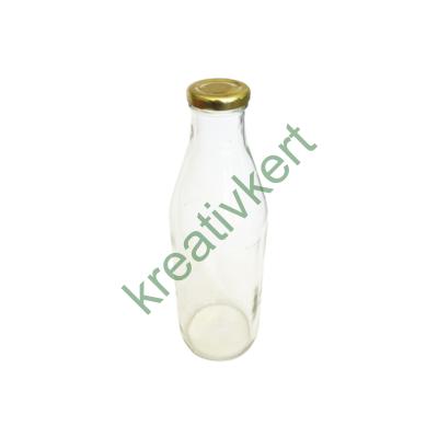 Tejes üveg tetővel 1 L