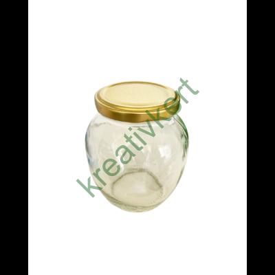 Csupros üveg tetővel 370 ml