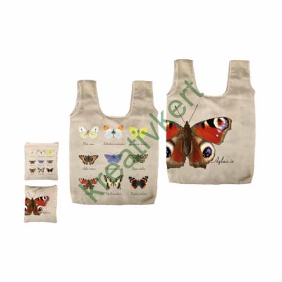 Pillangós, összehajtható bevásárlótáska