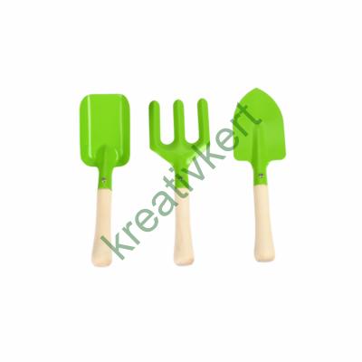 Kerti szerszámkészlet gyerekeknek (zöld)